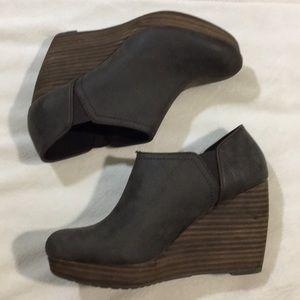 Dr. Scholls Brown Wedge Boot
